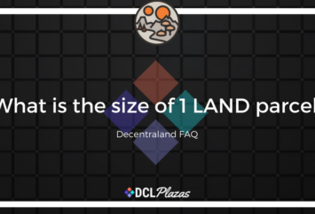 size of LAND decentraland