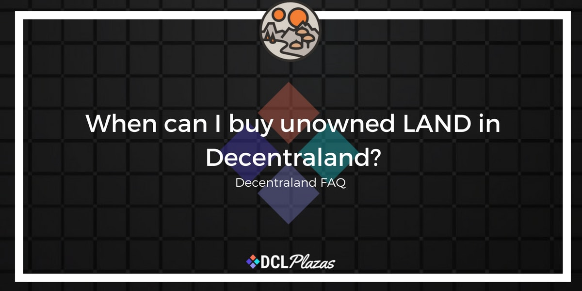 buy unowned land in decentraland