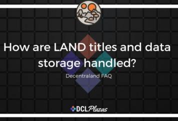 data storage decentraland