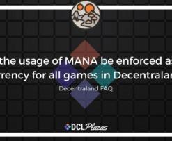 decentraland mana usage