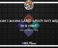 decentraland land access