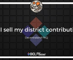 decentraland district contributions