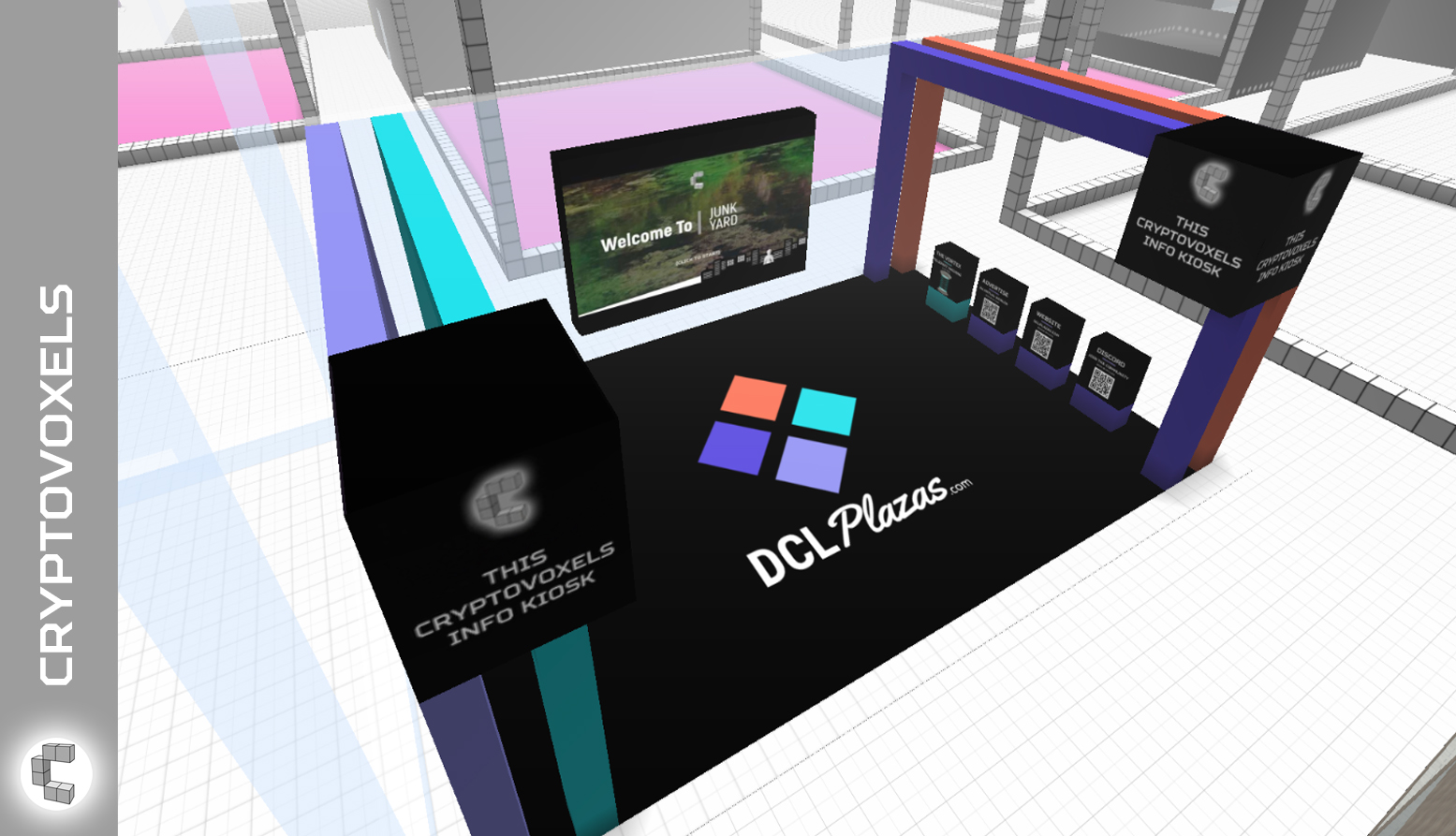 cryptovoxels dcl plazas