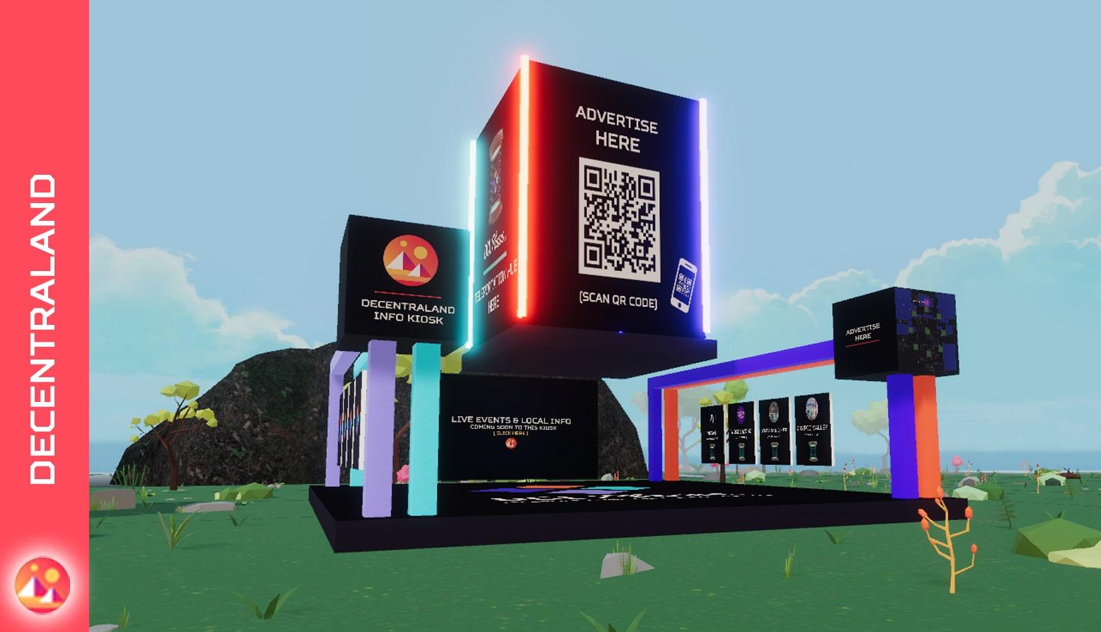 DCLplazas kiosk decentraland model